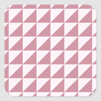 Large Triangles - Pink Lace and Puce Sticker
