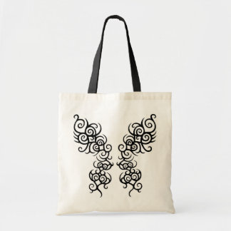 Large Tribal Butterfly With Abstract Hearts Bag