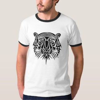 Large Tribal Tiger Face Design Tshirt