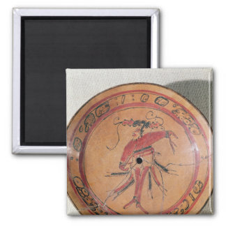 Large tripodal dish depicting an actor or dancer 2 inch square magnet