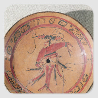 Large tripodal dish depicting an actor or dancer square sticker