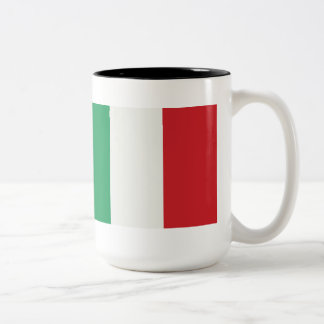 Large two-colored cup black Italy flag