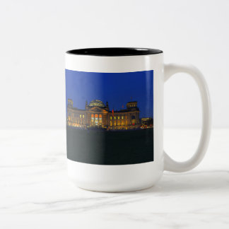 Large two-colored cup black Reichstag
