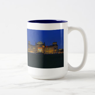 Large two-colored cup blue Reichstag