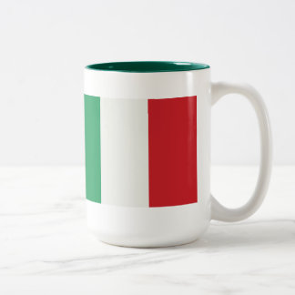 Large two-colored cup green Italy flag