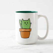 Large two-tone Cactus Mug - Pumpkin