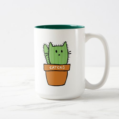 Large two_tone Cactus Mug _ Pumpkin