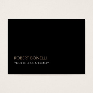 Large Unique Modern Black Stylish Business Card