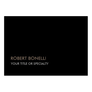 Large Unique Modern Black Stylish Large Business Card