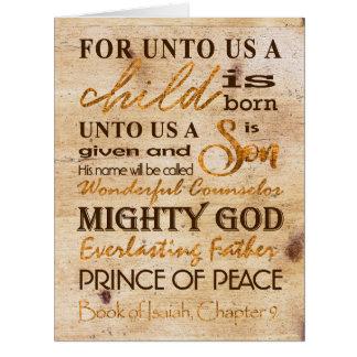 Large Unto Us A Child Modern Unique Christmas Card