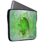 Large Urban Green Fantasy Griffin Laptop Sleeve