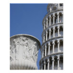 Large urn next to Leaning Tower of Pisa, Italy Posters
