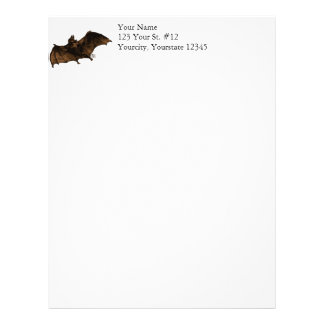 Large Vampire Bat in Flight Letterhead