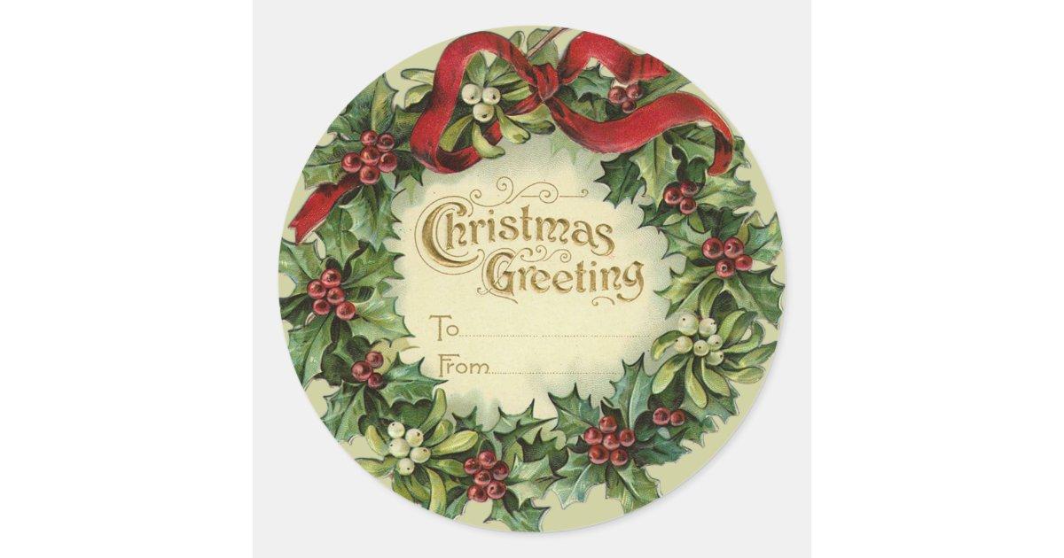 Christmas Name Tags: Large Victorian Christmas Name Tags For Gifts