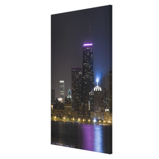 Large view of the northern Chicago skyline at Canvas Print