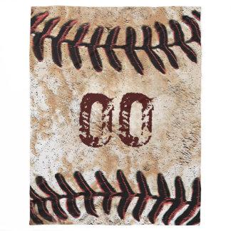 Large Vintage Baseball Blanket with Jersey NUMBER