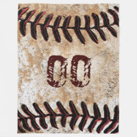 Large Vintage Baseball Blanket with Jersey NUMBER Fleece Blanket