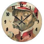 Large Vintage Dog Jockey Decorative Wall Clock
