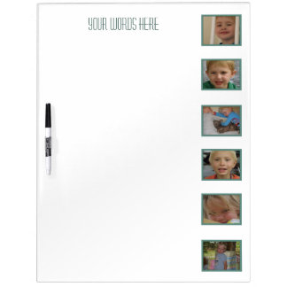 Large w Pen Add Your Pictures Dry Erase Board