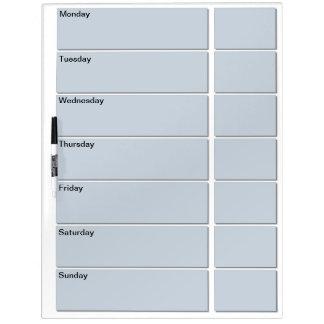 Large w/ Pen Dry Erase Board (Days Of Week)