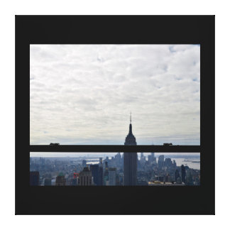 Large Wall Canvas-NYC Window Canvas Print