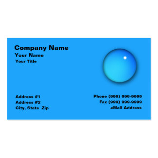 Large Water Drop Double-Sided Standard Business Cards (Pack Of 100)
