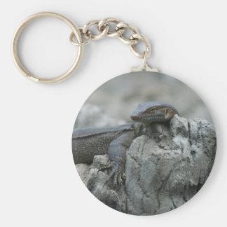 Large Water Monitor Lizard Basic Round Button Keychain
