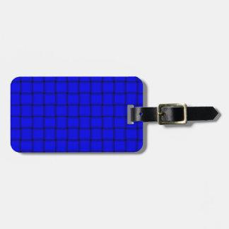 Large Weave - Blue Travel Bag Tag