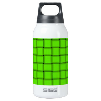 Large Weave - Bright Green Insulated Water Bottle