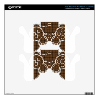 Large Weave - Brown Nose PS3 Controller Skins