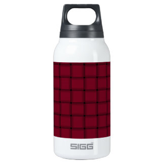Large Weave - Burgundy Insulated Water Bottle