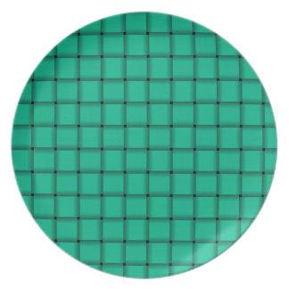 Large Weave - Caribbean Green Dinner Plate