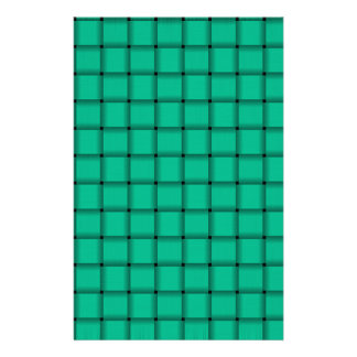 Large Weave - Caribbean Green Custom Stationery