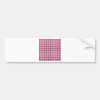 Large Weave - Carnation Pink Bumper Sticker