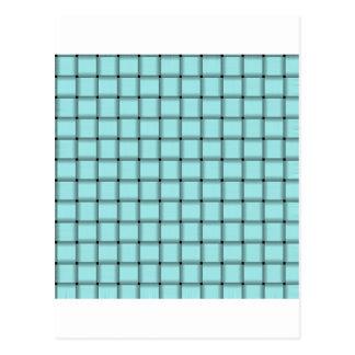 Large Weave - Celeste Postcard
