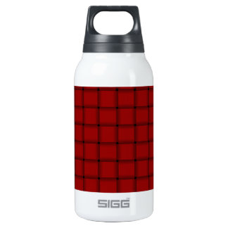Large Weave - Dark Candy Apple Red Insulated Water Bottle