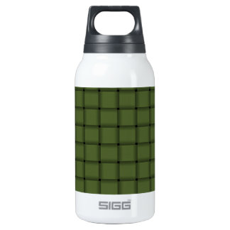Large Weave - Dark Olive Green Insulated Water Bottle