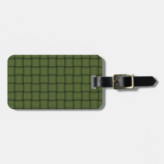 Large Weave - Dark Olive Green Luggage Tag