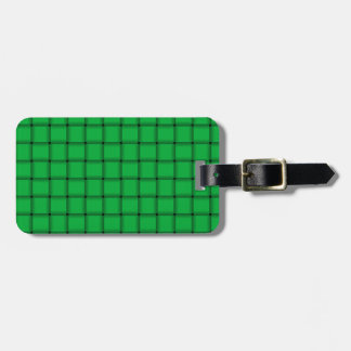 Large Weave - Dark Pastel Green Luggage Tag