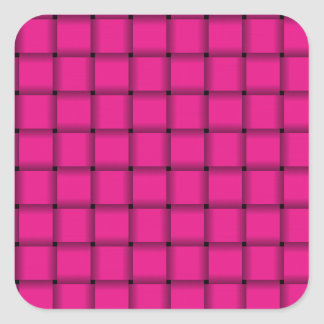 Large Weave - Deep Pink Square Sticker