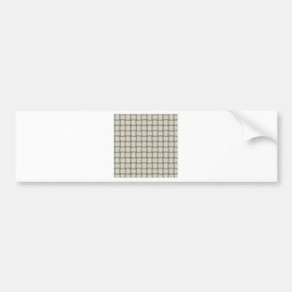 Large Weave - Eggshell Car Bumper Sticker