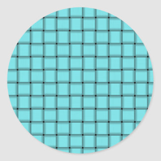 Large Weave - Electric Blue Classic Round Sticker
