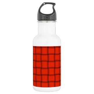 Large Weave - Ferrari Red Stainless Steel Water Bottle