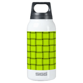 Large Weave - Fluorescent Yellow Insulated Water Bottle