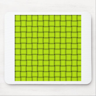 Large Weave - Fluorescent Yellow Mouse Pads