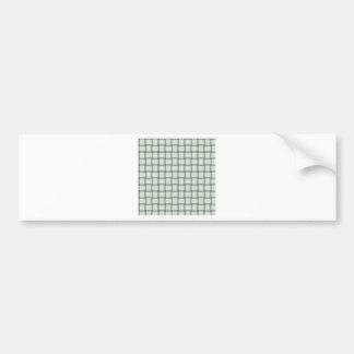 Large Weave - Honeydew Bumper Sticker
