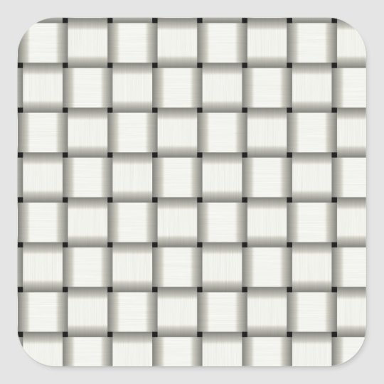 Large Weave - Ivory Square Sticker