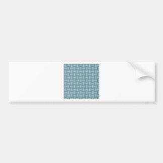 Large Weave - Light Blue Bumper Sticker
