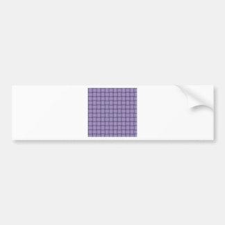 Large Weave - Light Pastel Purple Bumper Sticker