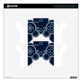 Large Weave - Oxford Blue Decal For PS3 Controller